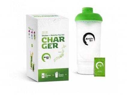 Bio Matcha Tea Charger Bílá