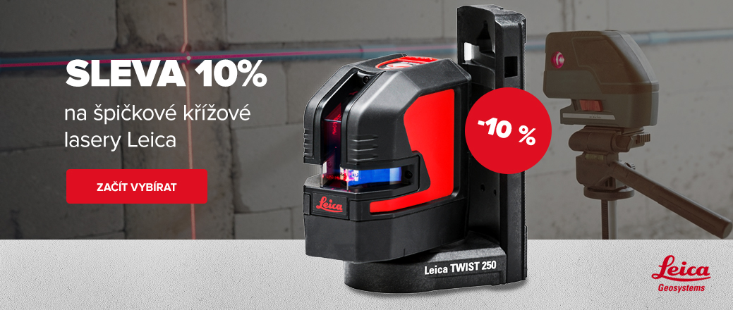 Křížový lasery Leica - 10%