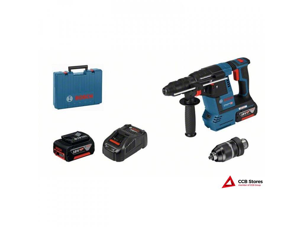 Akumulátorové vrtací kladivo sSDS plus GBH 18V-26 F Profess 0611910003  + prodloužená záruka 3 roky + taška Bosch Professional v hodnotě 499,- Kč