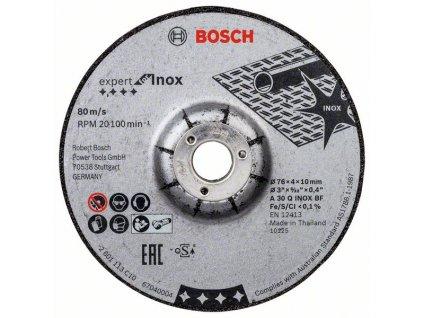 Brusný kotouč 76×4×10mm, 2ks, Expert for INOX A 30 Q INOX BF; 76mm; 4mm; 10mm 2608601705