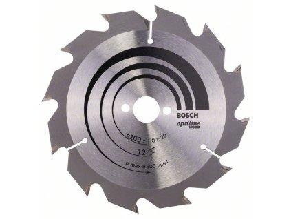 Pilový kotouč Optiline Wood 160 x 20/16 x 1,8 mm, 12 2608641170