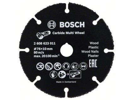 Řezný kotouč Carbide Multi Wheel, 76mm 76 mm; 1 mm; 10 mm 2608623011