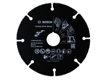 Řezný kotouč Carbide Multi Wheel, 125 mm 125 mm; 1 mm; 22,23 mm 2608623013