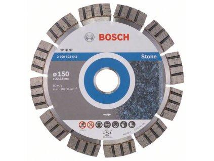 Diamantový dělicí kotouč Best for Stone 150 x 22,23 x 2,4 x 12 mm 2608602643