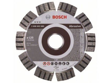 Diamantový dělicí kotouč Best for Abrasive 125 x 22,23 x 2,2 x 12 mm 2608602680