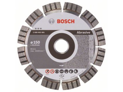 Diamantový dělicí kotouč Best for Abrasive 150 x 22,23 x 2,4 x 12 mm 2608602681
