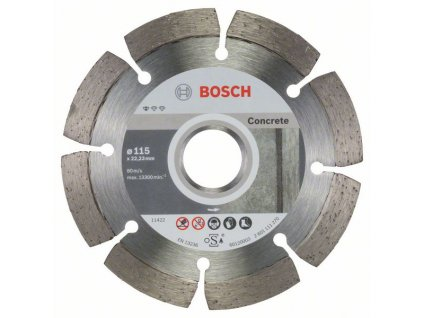 Diamantový dělicí kotouč Standard for Concrete 115 x 22,23 x 1,6 x 10 mm 2608603239
