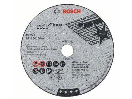 Rozbrušovací kotouč Expert for Inox A 60 R INOX BF; 76 mm; 1 mm; 10 mm 2608601520