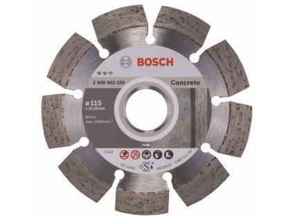 Diamantový dělicí kotouč Expert for Concrete 115 x 22,23 x 2,2 x 12 mm 2608602555
