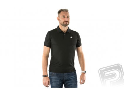 DJI Black POLO-Shirt(XXL)