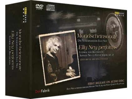 ELLY NEY - Elly Ney Performs Ludwig Van Beethoven Sonate No. 12 A Flat Major. Op. 26 - Historical Archive Footage (CD + DVD)