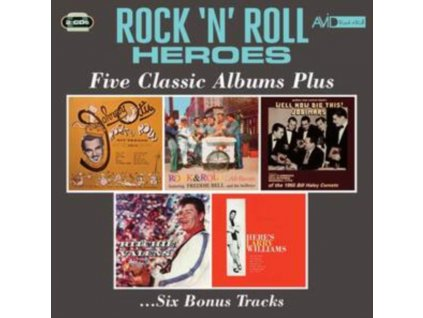 JOHNNY OTIS / FREDDIE BELL & THE BELL BOYS / THE JODIMARS / RITCHIE VALENS / LARRY WILLIAMS - Rock N Roll Heroes - Five Classic Albums Plus (CD)