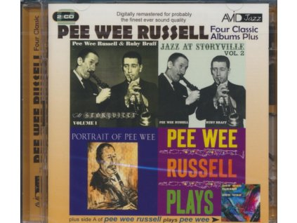 PEE WEE RUSSELL - Four Classic Albums Plus (Jazz At Storyville Vol 1 / Jazz At Storyville Vol 2 / Portrait Of Pee Wee / Pee Wee Russell Plays) (CD)