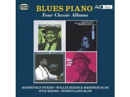 ROOSEVELT SYKES / WILLIE DIXON / MEMPHIS SLIM / OTIS SPANN / SUNNYLAND SLIM BLUES PIANO - Four Classic Albums (CD)