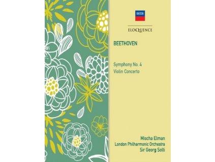 MISCHA ELMAN / SIR GEORG SOLTI - Beethoven: Symphony No. 4 / Violin Concerto (CD)