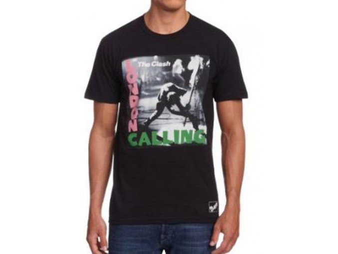 TRIČKO PÁNSKÉ/CLASH - LONDON CALLING ALBUM-MENS BLACK-M