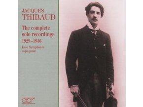 JACQUES THIBAUD - Thibaudsolo Recordings 192936 (CD)