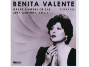 BENITA VALENTE - Great Singers Of The 20Th Century 1 (CD)