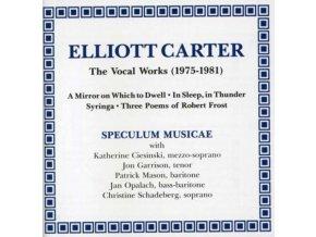 SPECULUM MUSICAE - Carterthe Vocal Works 19751981Etc (CD)