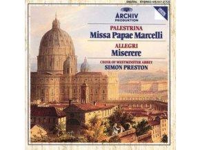 PRESTON / WESTMINSTER ABBEY CHOIR - Palestrina: Missa Papae Marcelli / Allegri: Miserere (CD)