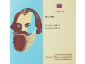 CONCERTGEBEOW / LONDON PHILHARMONIC ORCHESTRAS / VAN BEINUM - Brahms: Symphonies Nos. 1 & 3 (CD)