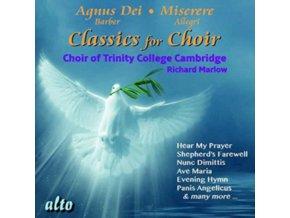 TRINITY COLLEGE CHOIR CAMBRIDGE / MARLOW - Agnus Dei / Classics For Choir (Barber / Allegri / Berlioz / Mendelssohn / Franck / Faure Etc Favour (CD)