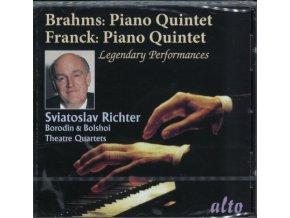 RICHTER / BORODIN & BOLSHOI QUARTETS - Brahms & Franck Piano Quintets (CD)