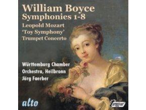 WURTTEMBURG CHAMBER ORCHESTRA / JORG FAERBER - Boyce 8 Symphonies / L. Mozart toy Symphony & Trumpet Concerto (CD)