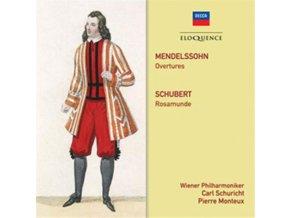 CARL SCHURICHT / PIERRE MONTEUX / VIENNA PHILHARMONIC ORCH - Mendelssohn: Overtures / Schubert: Rosamunde (CD)