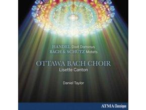 OTTAWA BACH CHOIR & DANIEL TAYLOR - Handel: Dixit Dominus. Bach & Schutz: Motets (CD)