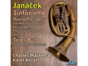 CHARLES MACKERRAS / PRO ARTE ORCHESTRA / KAREL ANCERL / CZECH PHILHARMONIC ORCHESTRA - Janacek: Sinfonietta / 4 Opera Preludes / Taras Bulba (CD)