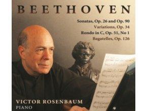 VICTOR ROSENBAUM - Ludwig van Beethoven: Sonatas Op. 26 and Op.90 / Variations Op. 34 / Rondo in C Op. 51 No. 1 / Bagatelles Op. 126 (CD)