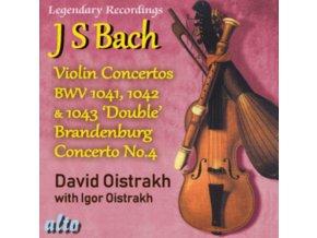 DAVID OISTRAKH - Bach Violin Concertos 1. 2. 3 Plus Brandenburg Concerto No.4 (CD)