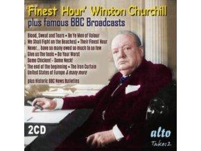 WINSTON CHURCHILL / BBC BULLETINS - Finest Hour Winston Churchills Greatest Speeches (CD)