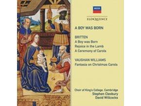 KINGS COLLEGE CHOIR / DAVID HILL / DAVID WILLCOCKS - A Boy Was Born - Britten. Vaughan Williams (CD)