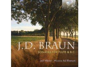 MUSICA AD RHENUM / JED WENTZ - J.D. Braun: Sonatas For Flute And B.C. (CD)