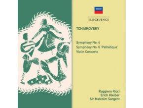 ERICH KLEIBER / RUGGIERO RICCI & SIR MALCOLM SARGENT - Tchaikovsky: Symphonies Nos. 4 & 6 / Violin Concerto (CD)