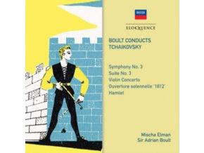 SIR ADRIAN BOULT & ORCHESTRE DE LA SOCIETE DES CONCERTS DU CONSERVATOIRE - Tchaikovsky: Symphony No. 3 / Violin Concerto (CD)