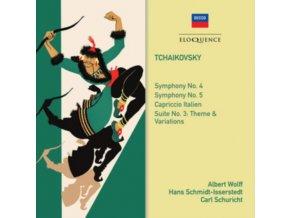HANS SCHMIDT-ISSERSTEDT / ALBERT WOLFF / CARL SCHURICHT - Tchaikovsky: Symphonies Nos. 4 & 5 (CD)