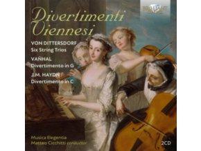 MUSICA ELEGENTIA / MATTEO CICCHITTI - Divertimenti Viennesi: Von Dittersdorf. Vanhal & J.M. Haydn (CD)