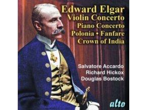 SALVATORE ACCARDO / LONDON SYMPHONY ORCHESTRA / RICHARD HICKOX / MUNICH SYMPHONY ORCHESTRA / DOUGLAS BOSTOCK - Elgar: Violin Concerto / Piano Concerto / Polonia Crown Of India / Civic Fanfare (CD)