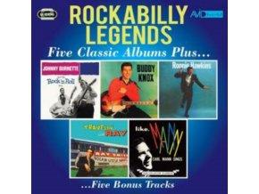 JOHNNY BURNETTE / BUDDY KNOX / RONNIE HAWKINS / RAY SMITH / CARL MANN - Rockabilly Legends - Five Classic Albums Plus (CD)