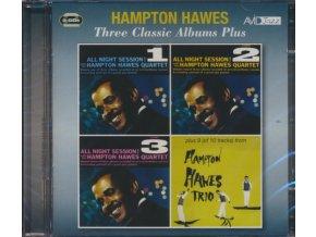 HAMPTON HAWES - Three Classic Albums Plus (All Night Session Vol 1 / All Night Session Vol 2 / All Night Session Vol 3) (CD)