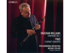 PHILHARMONIA / COLLINS - Ralph Vaughan Williams: Symphnoy No. 5 / Gerald Finzi: Clarinet Concerto (SACD)
