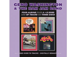 GENO WASHINGTON & THE RAM JAM BAND - Hand Clappin Foot Stompin Funky-Butt... Live! / Shake A Tail Feather / Hipsters. Flipsters. Finger-Poppin Daddies! / Running Wild Plus A & B Sides And E.P. Tracks (CD)
