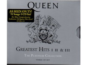 3 cd queen greatest hits I II & III