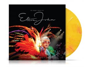 the many faces of elton john limited blue and yellow vinyl