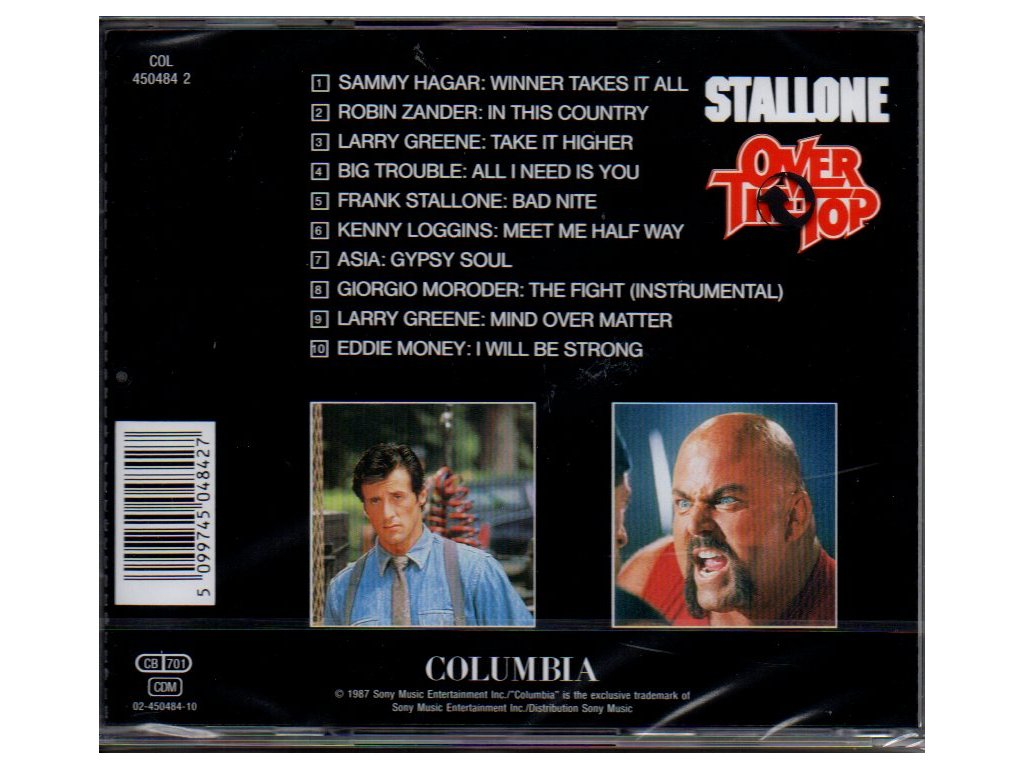 over the top 1987 soundtrack