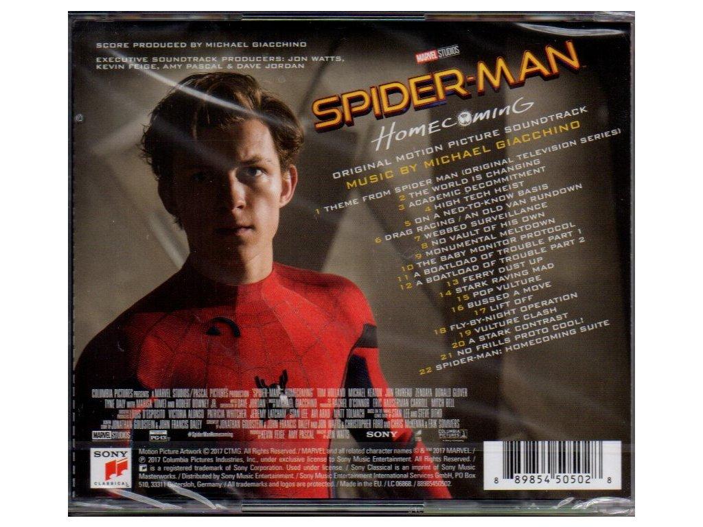 Spider Man Homecoming Soundtrack Cd Cd Soundtrack Cz