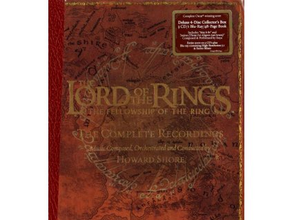 lord of the rings the fellowship of the ring complete recordings howard shore 3 cd + blu ray
